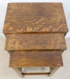 Oak Nest of Three Tables